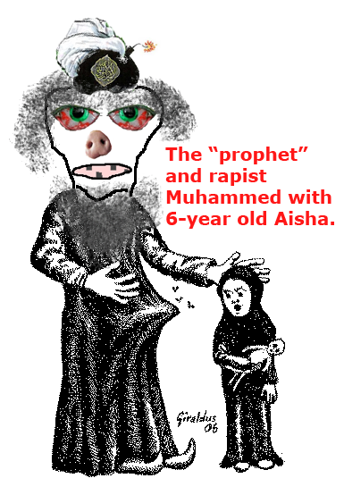Muhammed and his victim Aisha